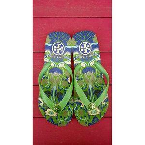Tory Burch printed women's flip flops